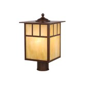 Mission Outdoor Post Lantern in Burnished Bronze