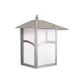 "Mission 11"" Outdoor Wall Lantern in Stainless Steel"