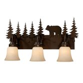 Bozeman Three Light Vanity Light in Burnished Bronze
