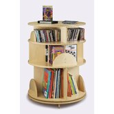 "32"" H Three Shelf Multimedia Carousel"