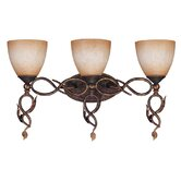Trellio  Vanity Light in Autumn Gold