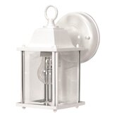 Wall Lantern with Clear Beveled Glass in White
