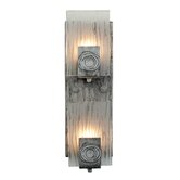 Recycled Polar Wall Sconce - Vertical Two Light