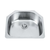 Single Bowl D shaped Stainless Steel Undermount Kitchen Sink