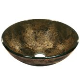 Dark Bronze Tempered Glass Vessel Sink