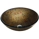 Glass Textured Vessel Sink in Copper
