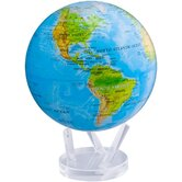 "8.5"" Blue Oceans with Relief Map Globe"