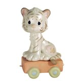 Birthday Train '16 and Feline Fine' White Tiger Figurine