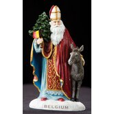 &quot;Belgium&quot; Belgium Santa Figurine