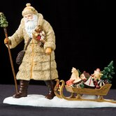 """Father Belsnickle"" Limited Edition Santa Pulling Sled Figurine"