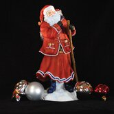 """Pere Noel of Paris"" Limited Edition Santa with Blue Bag of Toys Figurine"