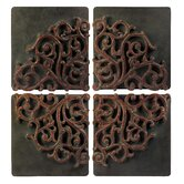 Divided Medallion Wall Art (Set of 4)