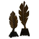 2 Piece Leaf Set with Stand