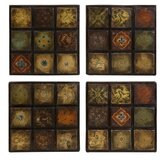 Barberry Handpainted Ceramic Wall Tiles (Set of Four)