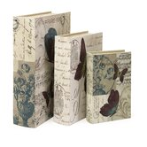 Parisienne Butterfly Book Box (Set of 3)