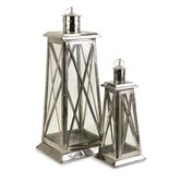 Regatta Steel and Glass Lantern (Set of 2)