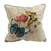 Margaret Embroidered Butterfly Pillow