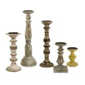 Kanan Wood Candlestick (Set of 5)