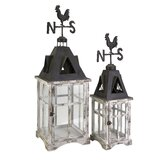 Weather Iron Vane Lantern (Set of 2)