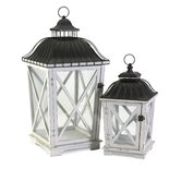 Newman Iron and Glass Lantern (Set of 2)