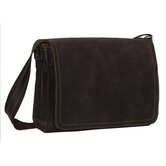 Full Flap Laptop Messenger in Distressed Leather
