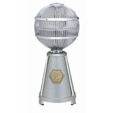 Fargo Desktop Fan in Satin Nickel