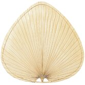 Palisade Wide Oval-Shaped Palm Leaf Indoor Ceiling Fan Blades (Set of 8)