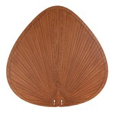 "Wide Oval Palm Leaf  52"" Outdoor Ceiling Fan Blade (Set of 5)"