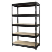 Iron Horse Rivet 60&quot; H x 36&quot; W Five Shelf Shelving Unit