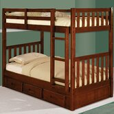 Weston Twin over Twin Bunk Bed with Built-In Ladder and Storage