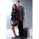 "Milano Vertical 14"" Laptop Rolling Carry On"