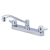 "Double Handle Centerset Kitchen Faucet with 8"" Centers"