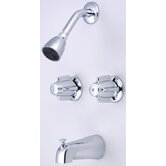 "Volume Control Tub and Shower Faucet with 6"" Centers"