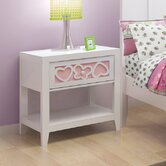 Hearts 1 Drawer Nightstand