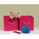 Folding Storage Bins in Hot Pink (Set of 2)