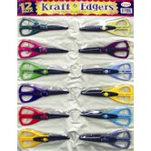 12 Peace KraftEdger Classpack Scissor in Vinyl Pouch