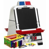 Police Car Easel with Paint Crate