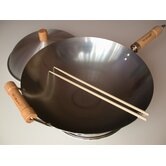 "4 Piece 14"" Round Bottom Wok Set"