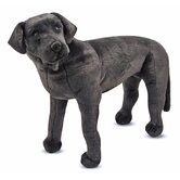 Large Black Lab Plush Stuffed Animal