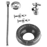 Ball Valve Toilet Kit and Wax Ring with Cross Handle