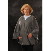 Fleece Poncho in Grey