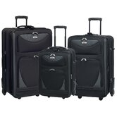 Skyview II 3 Piece Expandable Rolling Luggage Set