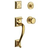 Madison Full Dummy Handle Set in Lifetime Polished Brass