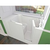 GelCoat 48&quot; x 28&quot; Bath Tub with Dual Massage