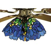 Tiffany Iris Fan Light Shade