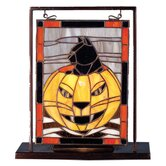 Holiday Halloween Lighted Mini Tabletop Window