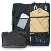Ballistic Nylon Tri-fold Carry-On Garment Bag in Black