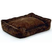 Corduroy Lounge Dog Bed in Chocolate Cord