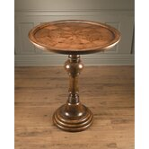 Pedestal Bar Table in Medium Brown