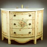 "47.5"" Curved Vanity with Sink in Antique Ivory"